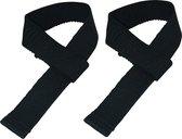 Tunturi Powerlifting Straps - Deadlift straps - per paar - Zwart