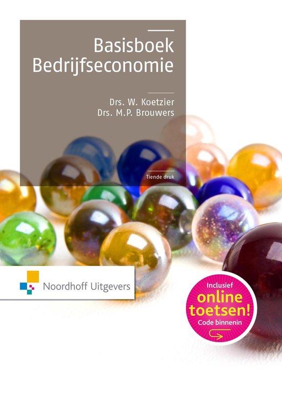Afbeelding van Basisboek bedrijfseconomie / druk 10
