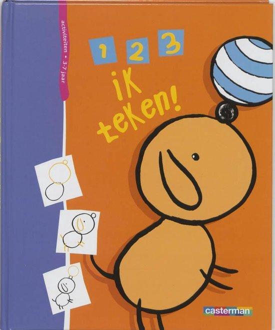Cover van het boek '1, 2, 3, ik teken' van Godeleine de Rosamel