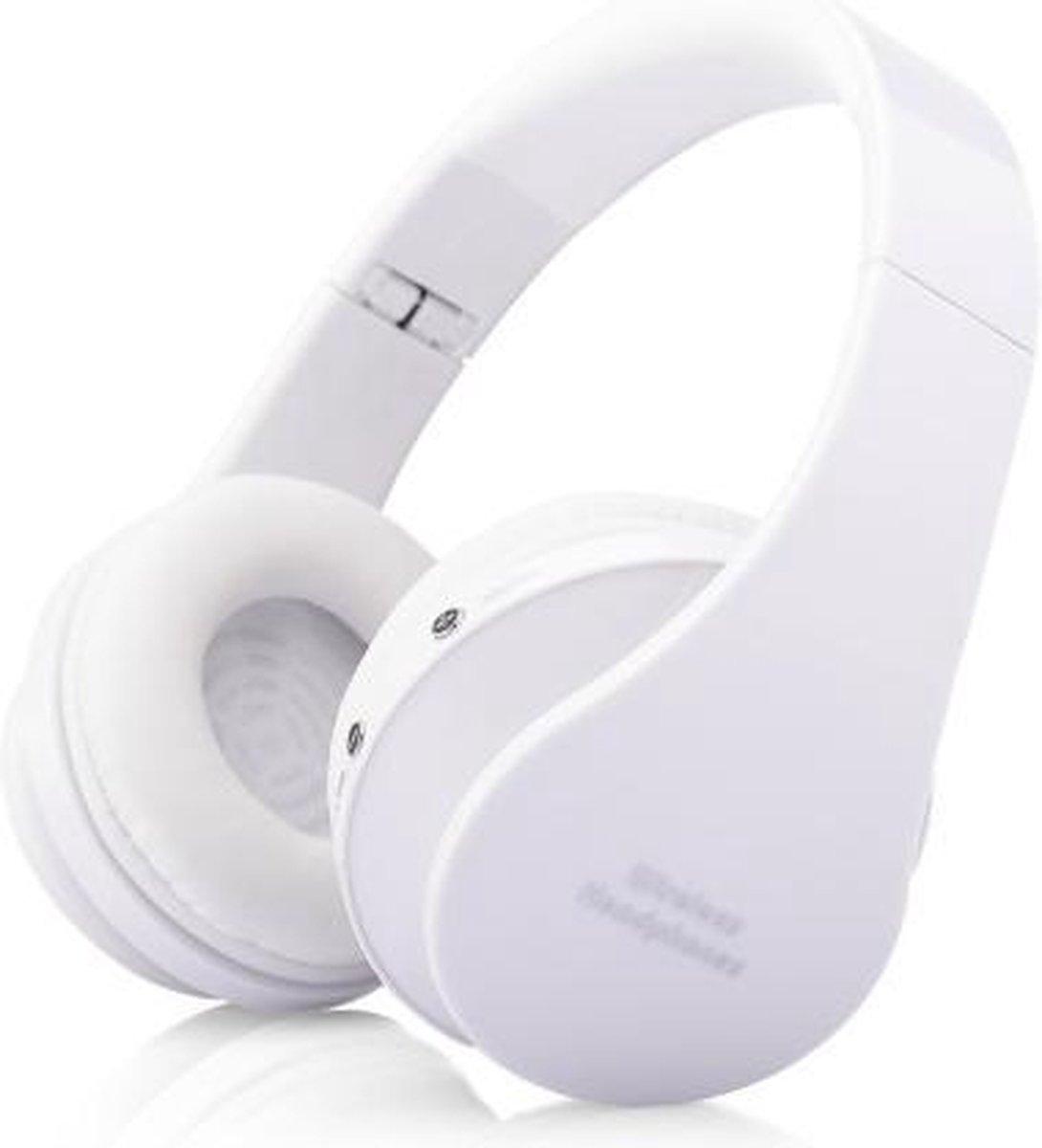 WISEQ Draadloze Kinder Koptelefoon – Bluetooth Koptelefoon voor Kinderen – on ear – 8 uur muziek   wit