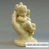 Parastone beeldje baby in hand - Geborgenheid - ivoor - 1226.50 - 10 cm hoog