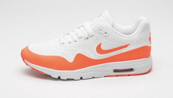 Nike Air Max 1 Ultra Moire - Sneakers - Wit/Oranje - Dames - Maat 36