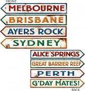 Australie straatbord decoraties