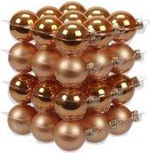 36x Oranje glazen kerstballen 4 cm - mat/glans - Kerstboomversiering oranje