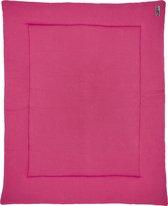 Meyco Knit basic boxkleed - 77x97 cm - bright pink