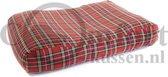 Hondenkussen Schotse ruit rood 125x90x15 cm
