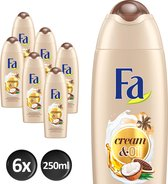 Fa Cream&Oil Cacaobutter & Coco Oil Douchecreme - 6x250ml