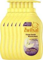 Zwitsal Slaap Zacht Bad- & Wasgel Lavendel - 6 x 400 ml - Voordeelverpakking