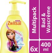 Zwitsal Bad&Douche Wascreme extra mild 6 x 400 ml - Voordeelverpakking