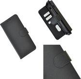 Pearlycase Hoes Wallet Book Case Zwart voor Nokia 3.2