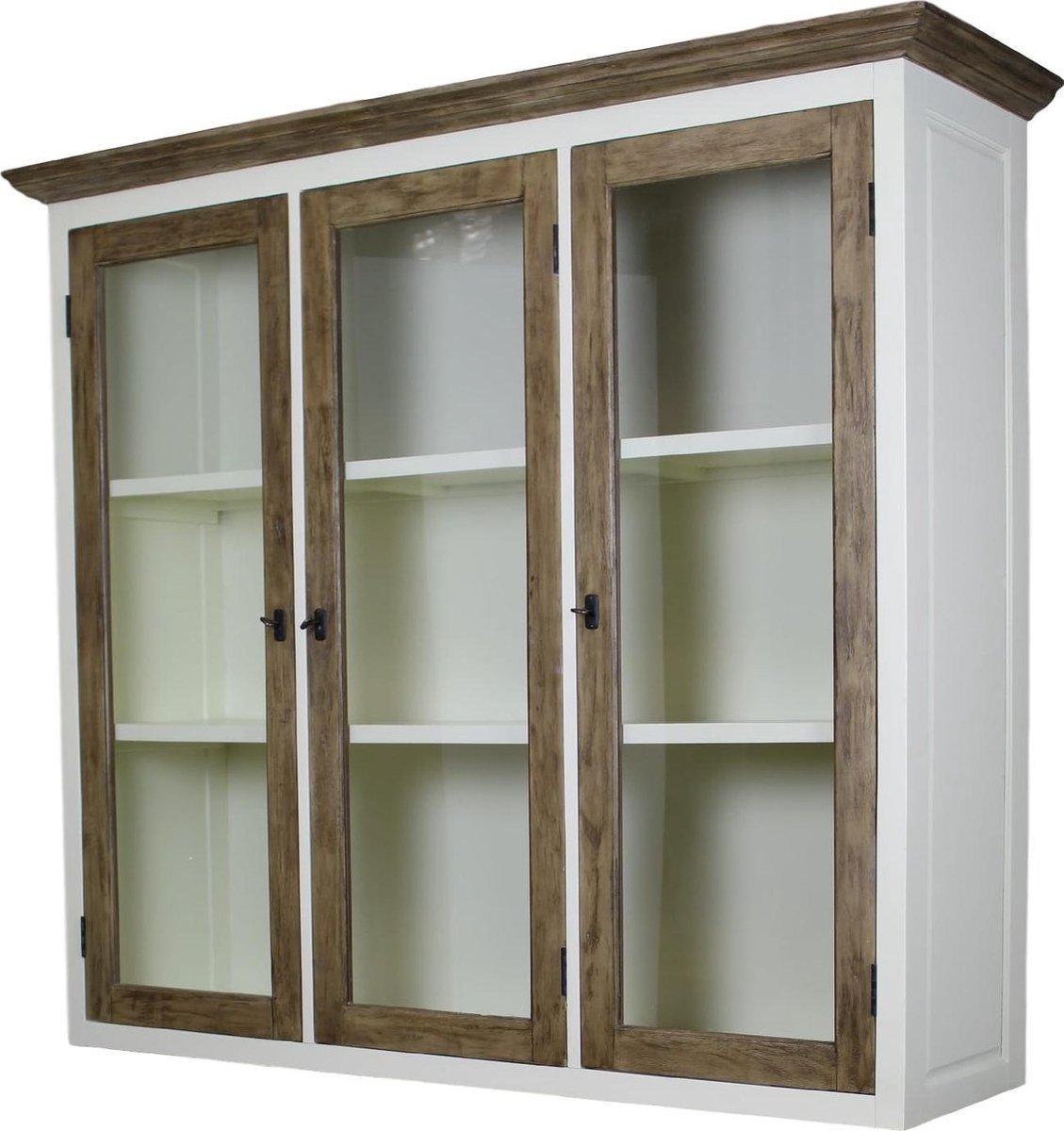 Super bol.com | HSM Collection - Bovenkast Hampshire 3-deurs - wit/oud TW-13