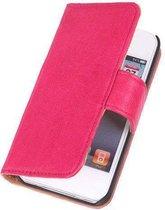 BestCases Pink Echt Leer Booktype Apple iPhone 4 4S