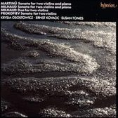 Bohuslav Martinu, Darius Milhaud: Sonatas for two violins and piano; Milhaud: Duo for two violins;