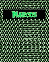 120 Page Handwriting Practice Book with Green Alien Cover Marcos