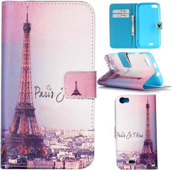 iCarer Eiffel tower print wallet case hoesje Wiko Lenny 2