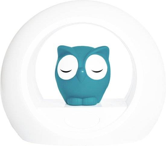 Zazu Lou Uil - Nachtlampje - Blauw - Kinderlamp met geluidsensor en nachtlamp functie