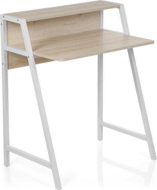 hjh office Dumont - Bureau - Computertafel - Esdoorn / wit
