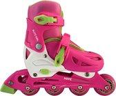 Move Blitz Inlineskates - Maat 27-30 - Meisjes - roze/wit/groen