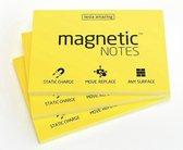 Magnetic Notes, set van 3 notitieboekjes maat M 100x74mmx100 sheets Geel