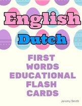 English Dutch First Words Educational Flash Cards