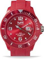 Tutti Milano TM001RE- Horloge - 48 mm - Rood - Collectie Pigmento