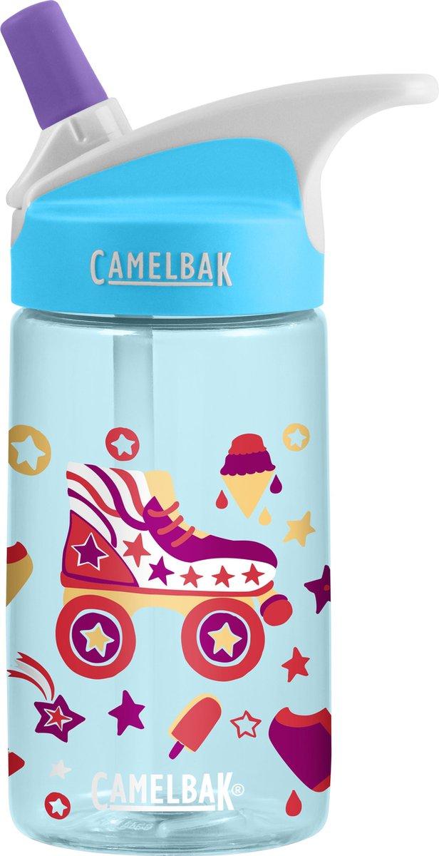 CamelBak Eddy Kids Drinkfles - 400 ml - Blauw (Roller Skates) -