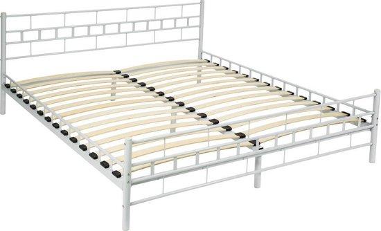 Bedframe metalen bed frame met lattenbodem 200*180 cm 401722