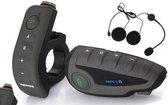 v8 5 rijders groepsgesprek bluetooth intercom headset + remote controlle