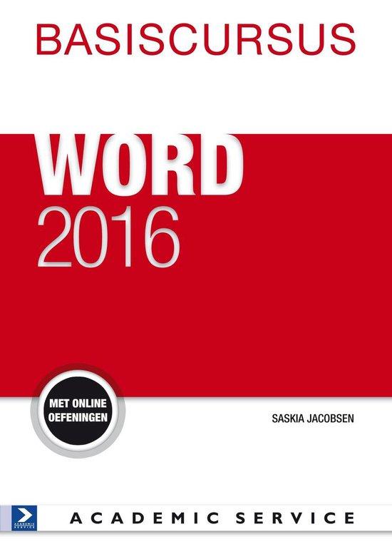 Basiscursus Word 2016 - Saskia Jacobsen |