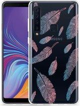 Galaxy A9 2018 Hoesje Feathers