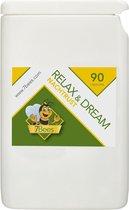Relax&Dream  - 90 capsules - Valeriaan - Passiebloem - Slaapmutsje - Hop - In-door slapen - 100% plantaardig - Extra krachtig