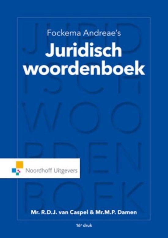 Fockema Andreae's juridisch woordenboek - C.A.W. Klijn |