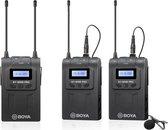 Boya UHF wireless micophone kit 2TX+1RX