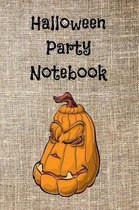 Halloween Party Notebook