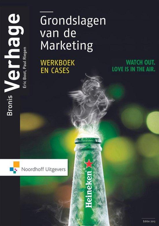Boek cover Grondslagen van de marketing, werkboek en cases van Bronis Verhage (Paperback)