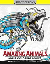 Amazing Animal Adult Coloring Book Robot Design