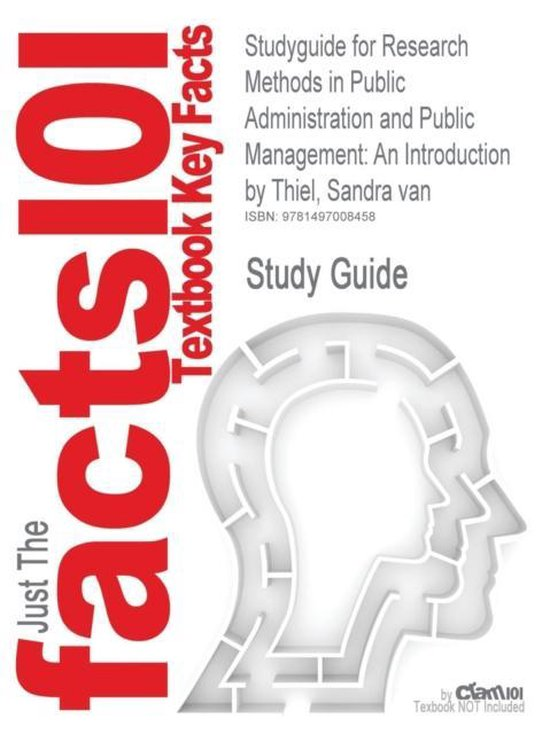 Boek cover Studyguide for Research Methods in Public Administration and Public Management van Cram101 Textbook Reviews (Paperback)