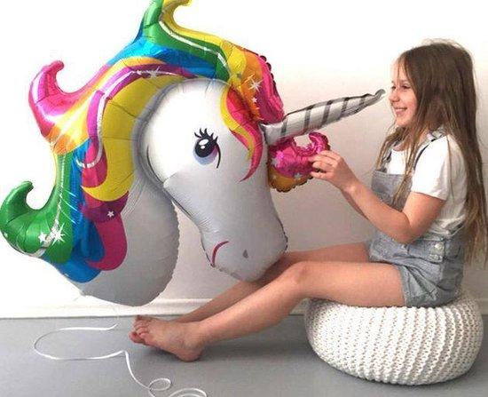 Helium ballon (leeg) unicorn / eenhoorn regenboog