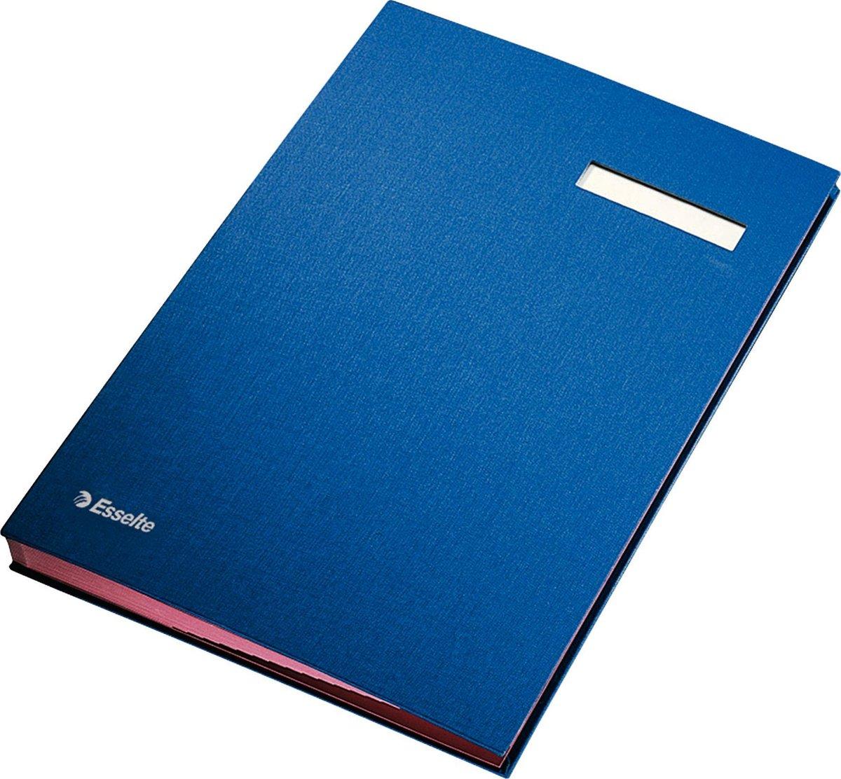 Esselte Vloeiboek Karton - Blauw