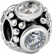 Quiges Bedel Bead - 925 Zilver - Zirkonia Kraal Charm - Z612