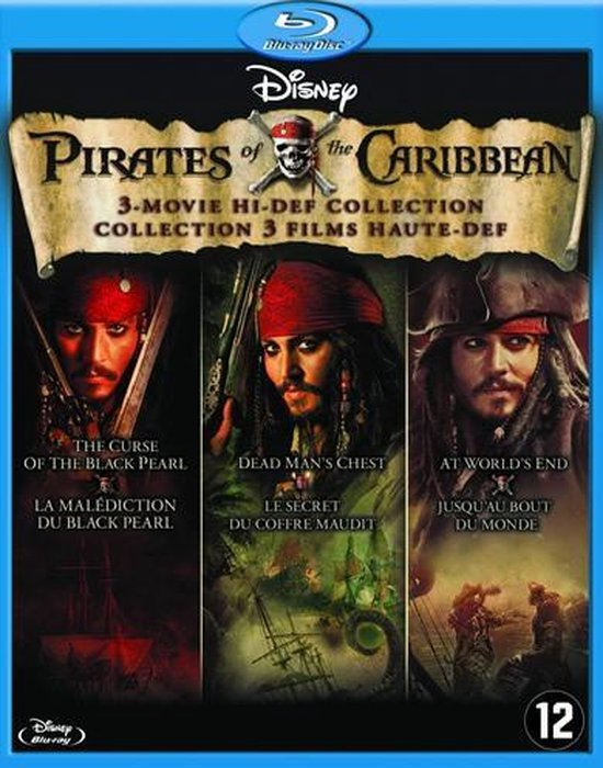 Cover van de film 'Pirates Of The Carribean 1-3'