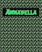 120 Page Handwriting Practice Book with Green Alien Cover Annabella