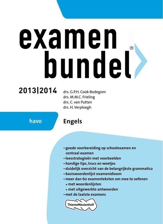 Examenbundel - 2013/2014 HAVO Engels - G.P.H. Cook-Bodegom |