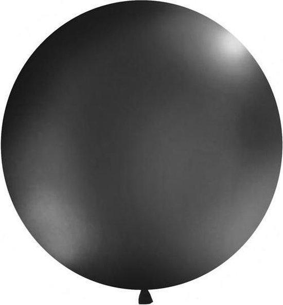 Reuzeballon 1 meter - zwart