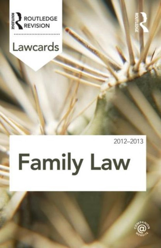 Family Lawcards 2012-2013
