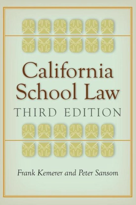Boek cover California School Law van Frank Kemerer (Paperback)