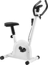 Indoor bike hometrainer met zadel - wit