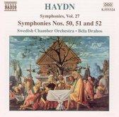 Haydn: Symphonies Nos.50,51&52