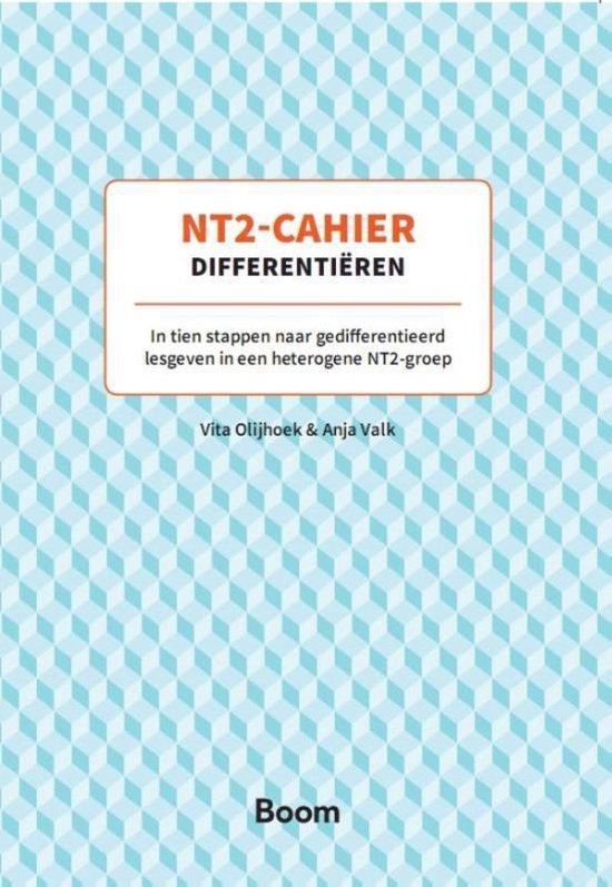 Boek cover Cahier  -   Differentiëren van Vita Olijhoek (Paperback)