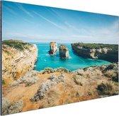 De eilandboog Aluminium 60x40 cm - Foto print op Aluminium (metaal wanddecoratie) / Zee en Strand